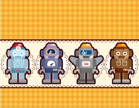 animated alien: cartoon robot card