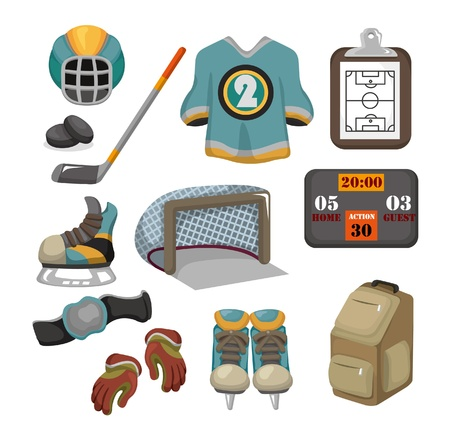 Vector ice hockey icon set Stock Vector - 10061583
