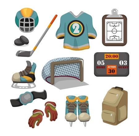 sports jersey: Vector ice hockey icon set