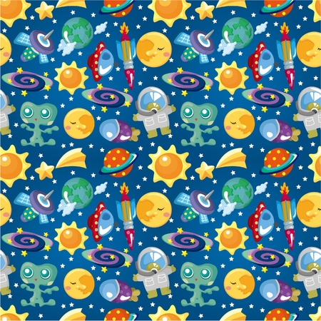 seamless space pattern Stock Vector - 10061590