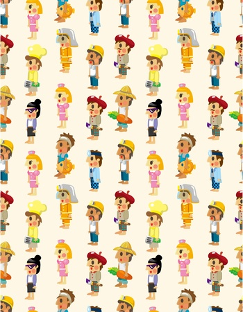 cartoon Student pattern seamless Vector