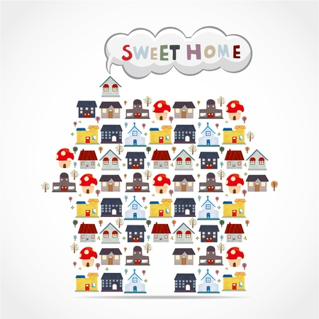case moderne: cartone animato casa di carta