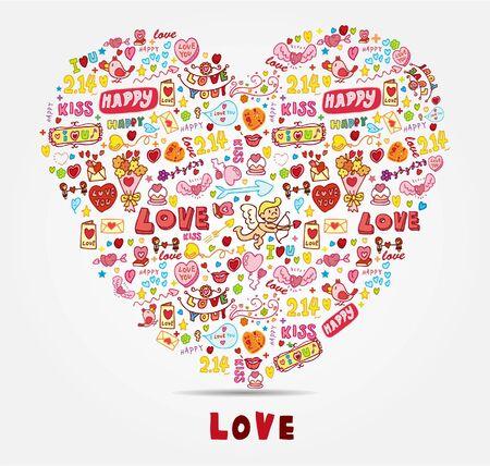 cartoon love card  Vector