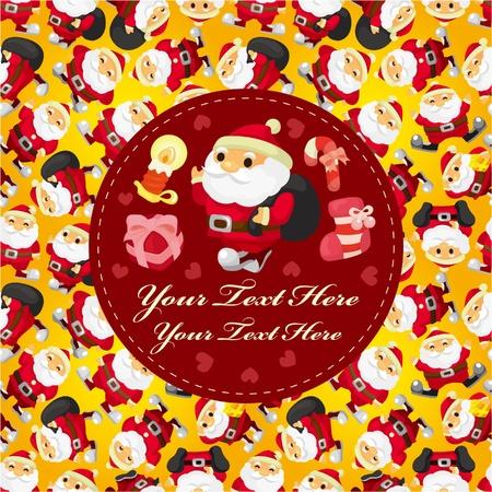 cute christmas card Stock Vector - 10061606