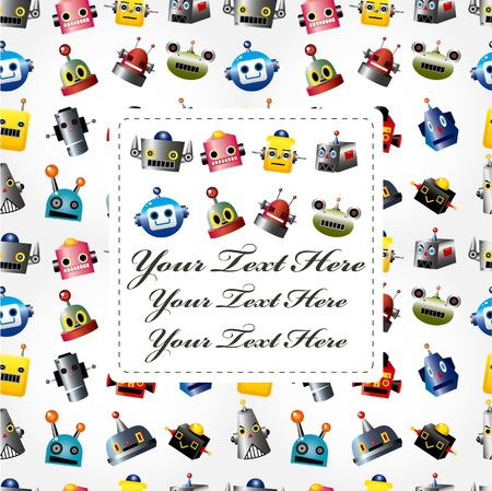 robot head: cartoon robot head card Illustration