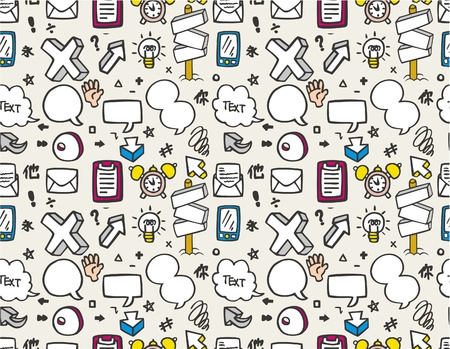 cartoon web pattern seamless Vector