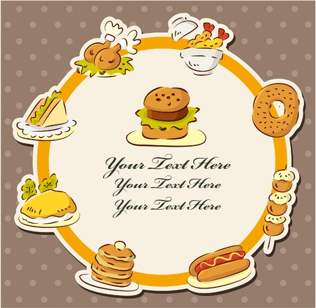 fast food restaurant card  Illustration