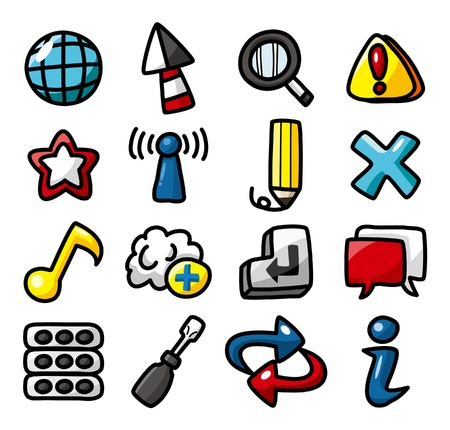 hand draw web icons collection Stock Vector - 10135314