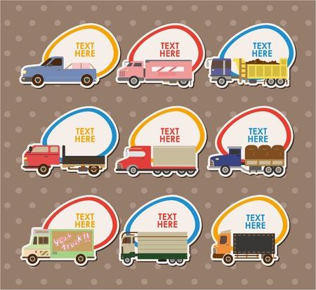 Truck Stickers ,vector Vector
