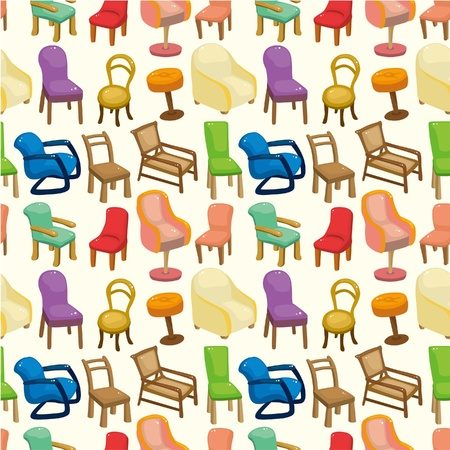 chair furniture seamless pattern  Vector