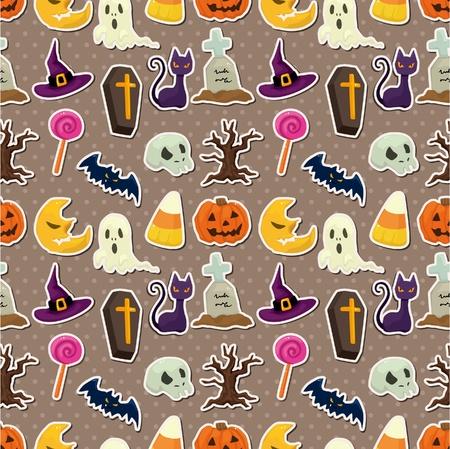 cartoon Halloween seamless pattern Stock Vector - 10178811