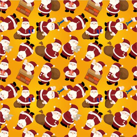 Seamless Christmas funny cartoon  Vector