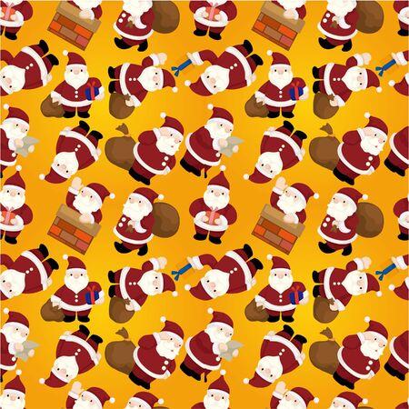 christmas elk: Seamless Christmas funny cartoon  Illustration