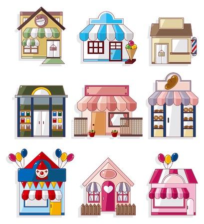 buchhandlung: Cartoon Haus  shop Icons Sammlung