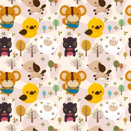 raton laveur: Patron sans soudure animale de dessin anim�