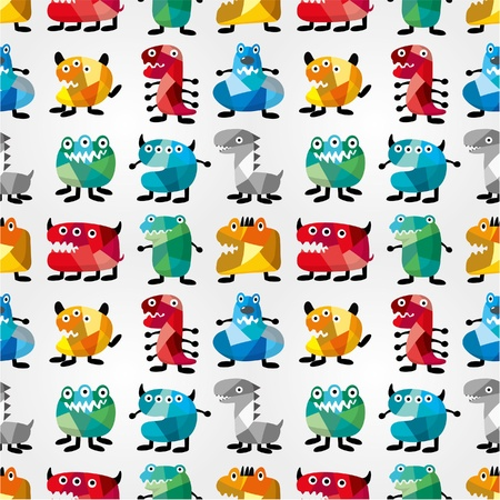 witty: seamless monster pattern