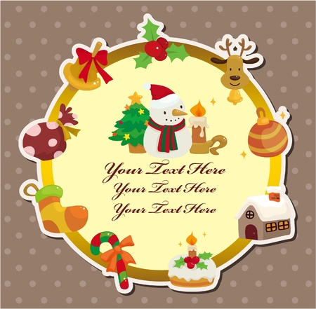 cartoon xmas card Stock Vector - 10268816