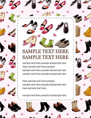fashion shoe sale card  Vector