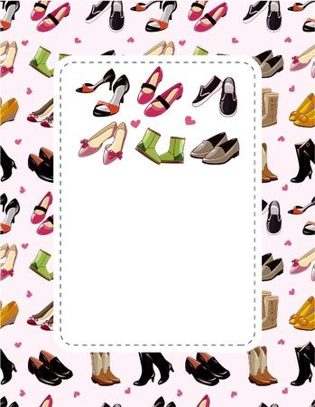 shoe sale: tarjeta de venta de calzado de moda