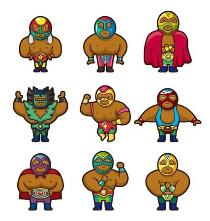 sportsperson: cartoon wrestler icon