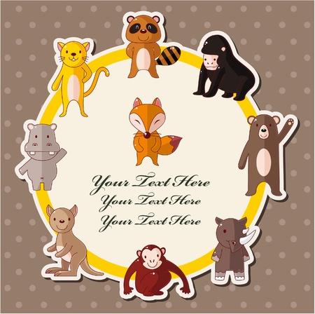 orangutang: cartoon wildlife animal card