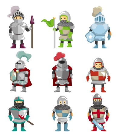 rycerze: Edukacyjny film animowany ikonÄ™ Knight  Ilustracja