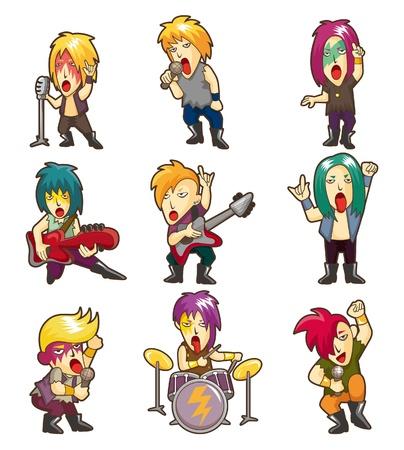 Cartoon Heavy Metal rock music band Stock Vector - 10325253