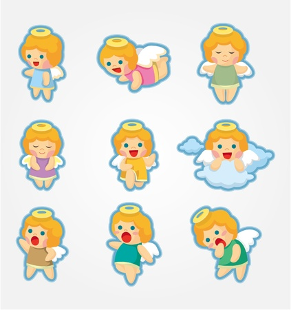 cilp: cartoon Angel icon set