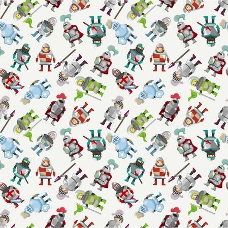 seamless Knight pattern  Illustration