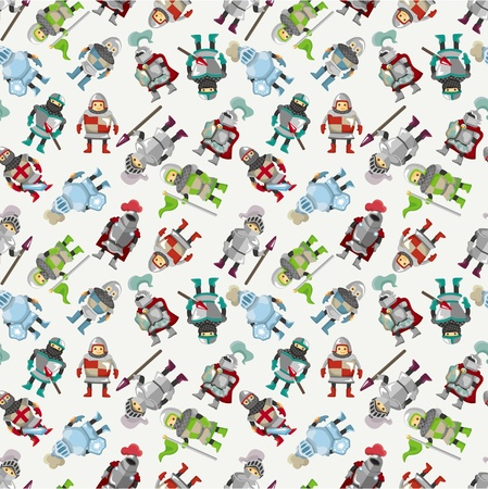seamless Knight pattern  Vector