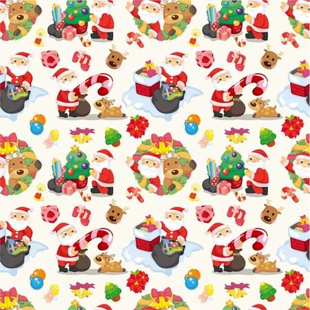 Seamless Christmas funny cartoon Stock Vector - 10374172