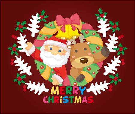 cartoon xmas card  Vector
