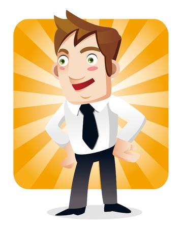 funny cartoon office worker Stock Vector - 10399955
