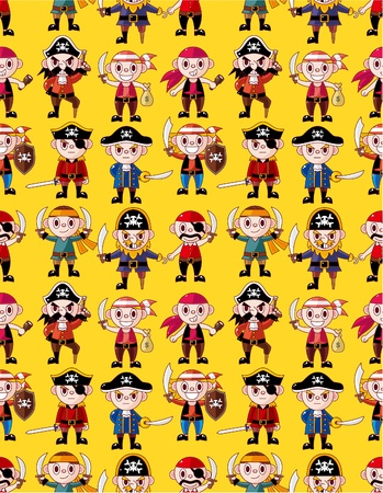 seamless pirate pattern  Vector
