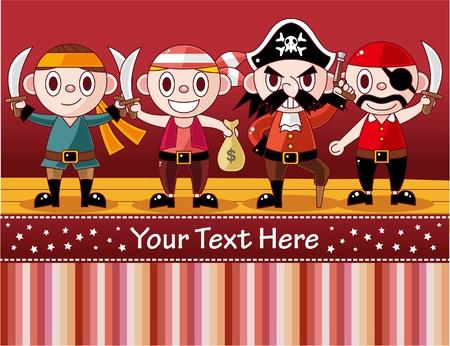 vicious: cartoon pirate card  Illustration