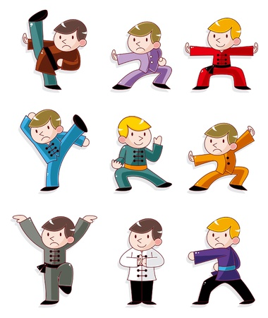 tai chi: cartoon chinese Kung fu icon
