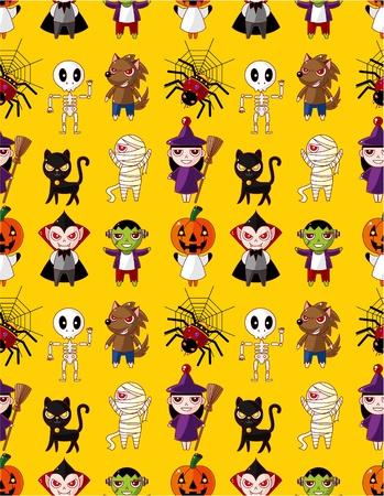 loup garou: Cartoon Halloween pattern de vacances monstre transparent