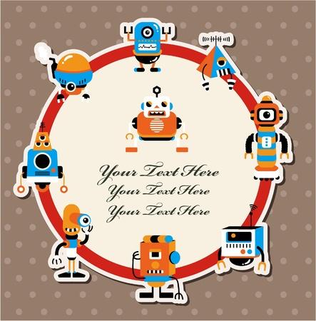 robot caricatura: dibujos animados tarjeta de robot Vectores