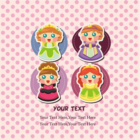 beauty queen: princess card  Illustration