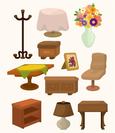 classic furniture: cartoon Furniture icons