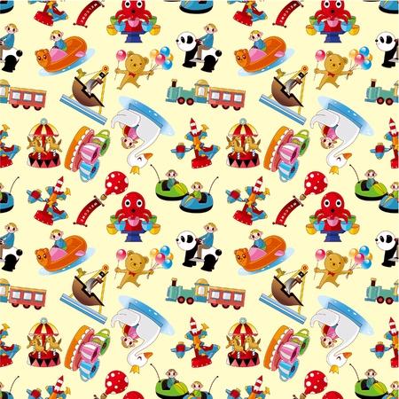 corsair: cartoon playground seamless pattern Illustration