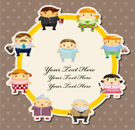 family card  Vector