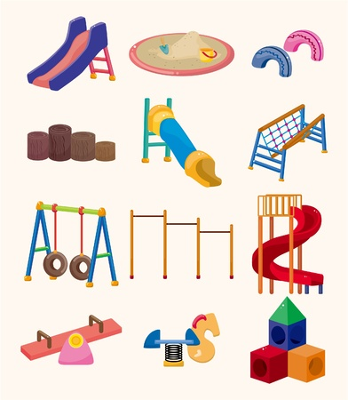 playgrounds: cartoon park playground icon