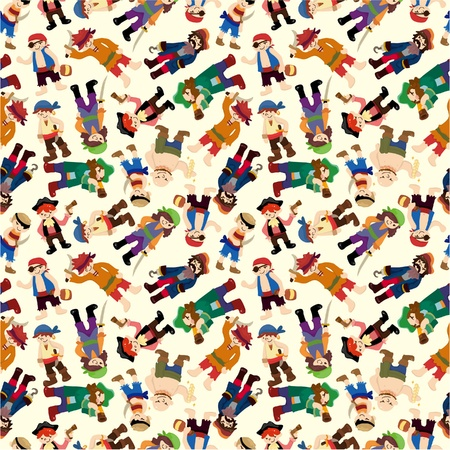 aberdeen: seamless pirate pattern  Illustration