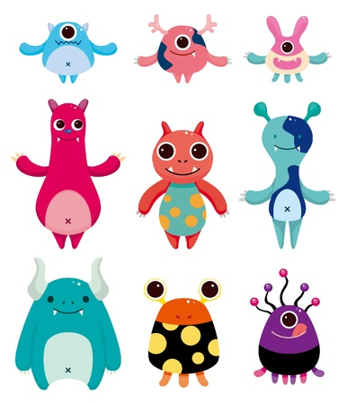 cartoon monster icons Stock Vector - 10428833