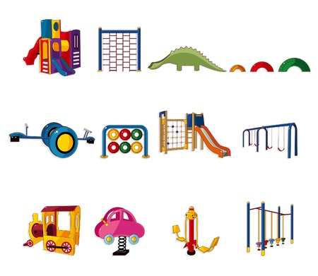 cartoon park playground icon