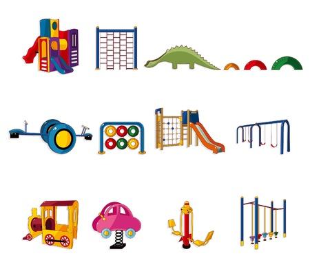 cartoon park playground icon  Vector