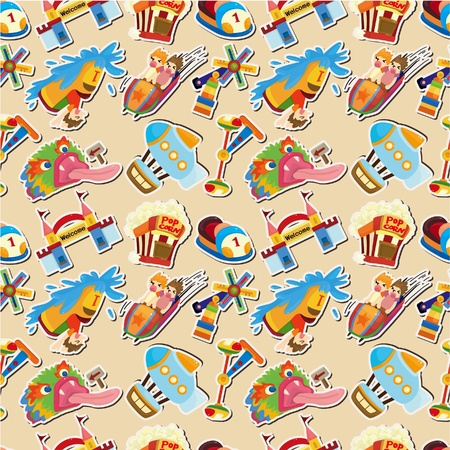 cartoon playground seamless pattern Vector