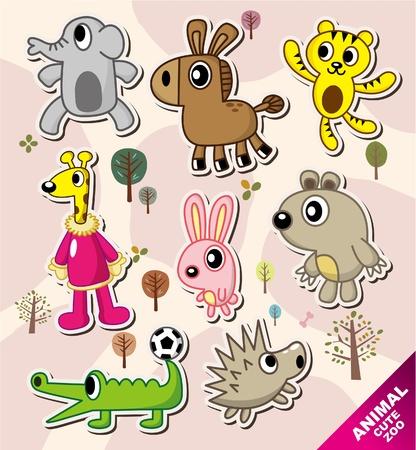 cartoon animal icons Stock Vector - 10458392
