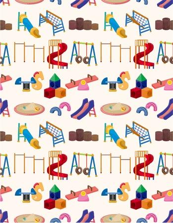 colorful slide: seamless park playground pattern  Illustration